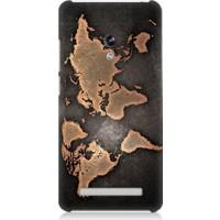 Teknomeg Asus Zenfone 6 Dünya Haritası Desenli Silikon Kılıf