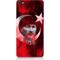 Teknomeg Casper Via V10 Atatürk Ve Bayrak Desenli Silikon Kılıf