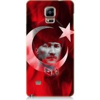 Teknomeg Samsung Galaxy Note 4 Atatürk Ve Bayrak Desenli Silikon Kılıf