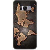 Teknomeg Samsung Galaxy S8 Dünya Haritası Desenli Silikon Kılıf