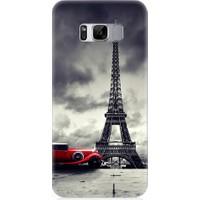 Teknomeg Samsung Galaxy S8 Eyfel Kulesi Ve Araba Desenli Silikon Kılıf