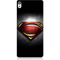 Teknomeg Sony Xperia Z5 Superman Logo Desenli Silikon Kılıf