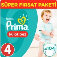 Prima Pants Külot Bebek Bezi Maxi Süper Fırsat Paketi 104 Adet