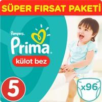 Prima Pants Külot Bebek Bezi Junior Süper Fırsat Paketi 96 Adet.