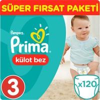 Prima Pants Külot Bebek Bezi Midi Süper Fırsat Paketi 120 Adet