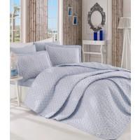 Melanyv1 Tek Kisilik Multi Yatak Örtüsü Seti Mavi