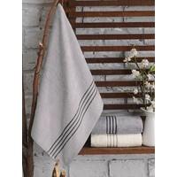 Cotton Box Tek Kişilik 3 Lü Bambu Havlu Seti Krem&Gri&Taş