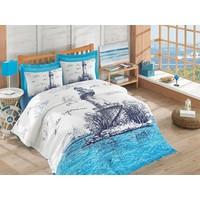 Cotton Box Tek Kişilik Maritime Serisi Ranforce Hermevsim Set Lighthouse Mavi