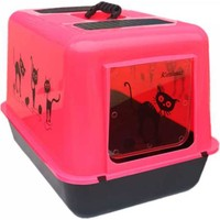 Petimister Kedi Kapalı Tuvalet Kabı Pembe