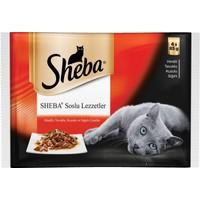 Sheba Kedi yaş pouch Multipack Etli çeşitler (4 pack) 4 X 85 Gr