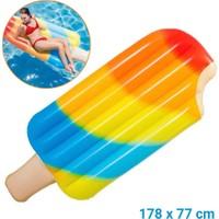 Intex 58755 Çubuklu Dondurma Yatak 178 x 77 cm Deniz Yatağı
