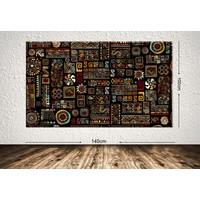 Tablo Center Dev Boyut Dekoratif Kanvas Tablo 100 x 140 cm