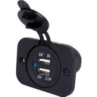 Çift USB 12V Araç Şarj Soketi 2.0A/1A