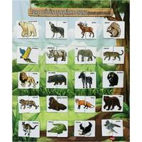 OX Resmi Tamamlama Vahşi Hayvanlar Eğitici Pano