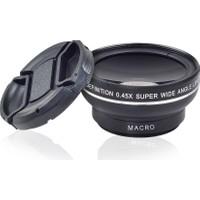 AEK-Tech 0.45X ve 12.5X Süper Geniş Açı Makro Lens Siyah