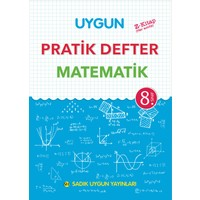 Uygun 8.Sınıf Matematik Pratik Defter Sadık Uygun Yayınları