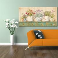 Evmanya Deco Renkli Çiçekler Kanvas Tablo