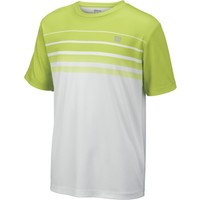 Wilson Spring Striped Crew Erkek Çocuk T-Shirt Green Glow/White (SM) (WRA751301SM)