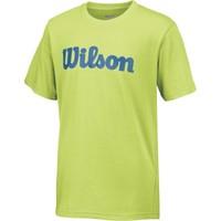 Wilson Script Cotton Tee Erkek Çocuk T-Shirt Green Glow/Deep Water (SM) (WRA752501SM)