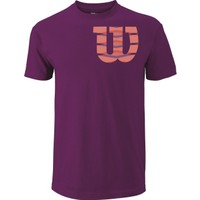 Wilson Shoulder W'Cotton Tee Erkek T-Shirt Purple Potion/Fiesta (XL) (WRA747701XL)