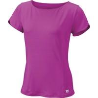 Wilson Star Crossover Cap Sleeve Top Kadın T-Shirt Rose Violet (XS) (WRA748402XS)