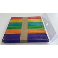 Kırtasiyebank Dil Çubuğu Renkli Abeslang 150Mm 50 Adet