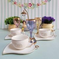 Acar Porselen Kafes Model Fincan Ve Kahve Yanı Su Bardağı 6 Kişilik Set