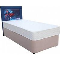 Homeshoppingmall Tek Kişilik Baza+Yatak+Başlık Superman