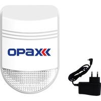 Opax Bgr-08 Kablosuz Harici Siren + Adaptör
