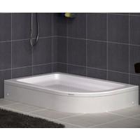 Shower Oval Asimetrik Duş Teknesi (Panelli) 70*100