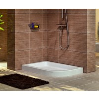 Shower Oval Asimetrik Monoblok Duş Teknesi 70*100