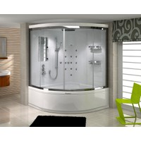 Shower Elegant Compact 150*150 - Sistem - Iıı - - İç Duvar Siyah