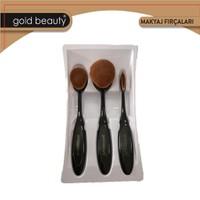 Gold Beauty Çok Amaçlı Kaşık Oval Makyaj Fırça Seti Ep913