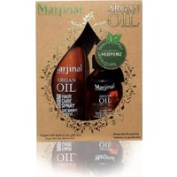 Marjinal Argan Oil Argan Yağı+Argan Fön Suyu 2'Li Set (Cam)