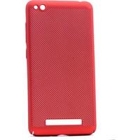 Case 4U Xiaomi Redmi 4a Delikli İnce Kapak (kenar Korumalı) Kırmızı