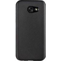 Gpack Samsung Galaxy A3 2017 Kılıf Karbon Kaplama Rubber Siyah