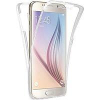 Gpack Samsung Galaxy S6 Edge Kılıf Ön Arka Şeffaf Silikon Case