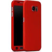 Gpack Samsung Galaxy S7 Edge Kılıf 360 Derece Full Kaplayan Rubber Kırmızı