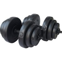 Delta 40 Kg. Deluxe Vinyl Kaplı Dura-Strong Plaka & Bar Set - DS 5440