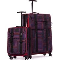 It Luggage Büyük Ve Kabin Boy Valiz Seti Kumaş Kırmızı 1830