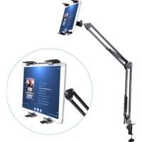 Magic 95 Cm Universal Uzun Mandallı Masa Tablet Tutucu Srf-602 Teleskopik