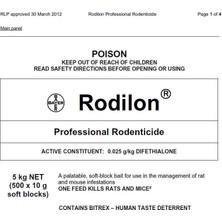 Bayer Rodilon Fare Zehiri Pastası 500gr