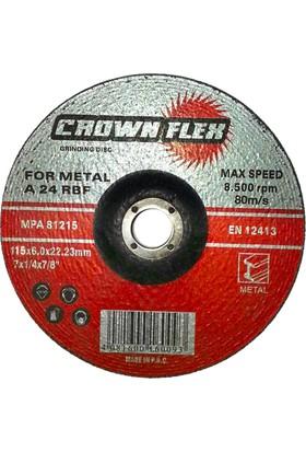 Metal Taşlama Taşı 115X6 Mm Crown (100 Adet)