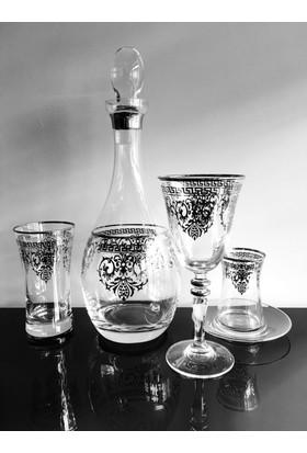 Decostyle Versace Gümüş 49 Parça Çeyiz Seti