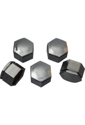 Opel için 5 adet Gümüş Renk Plastik Bijon Kapağı 1008208, Yükseklik: 21.40 mm* İç Çap: 22 mm