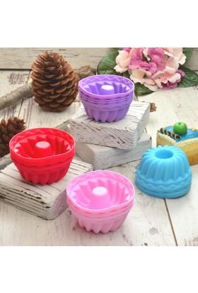 Pinkev 24'lü Yanmaz Yapışmaz Silikon Muffin Mini Kek Kalıbı