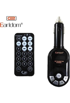 Earldom Araç Fm Transmitter Usb Şarj Mp3 Player Sd Kart Kumandalı