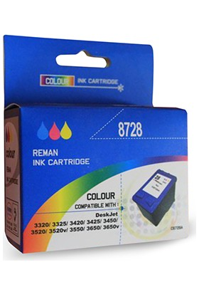 Bk Hp 28 Sıfır Renkli Muadil Kartuş Yüksek Kapasite (C8728A)