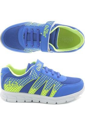 Free Oscar Mavi Neon Yeşil Çocuk Spor Ayakkabı