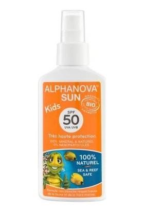 Alphanova Çocuklar için Organik ve Yüksek Koruma Güneş Kremi SPF50+ - Sprey, 3+ yaş